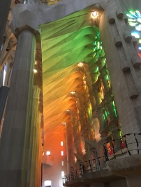 Light pouring into La Sagrada Familia