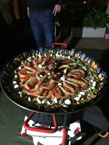 Our paella masterpiece