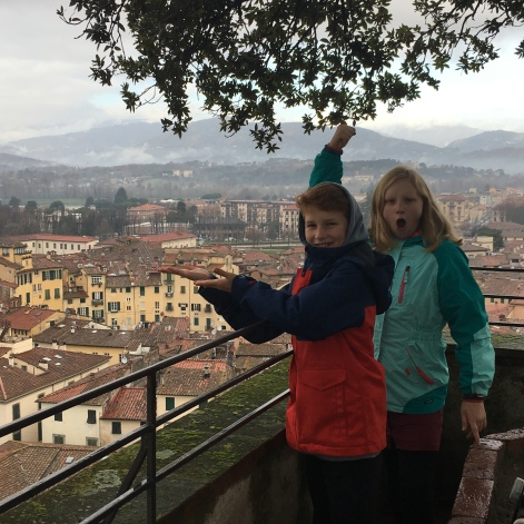 On top of a Lucca church steeple
