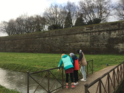 Outside the Lucca wall