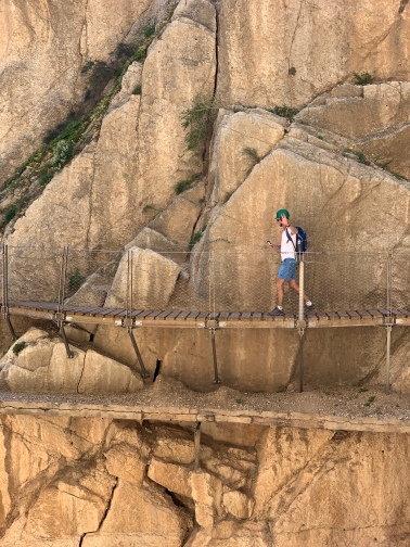 George walking on the edge