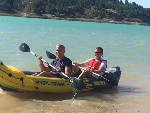 Dads paddling