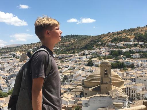 Quinton admiring the view