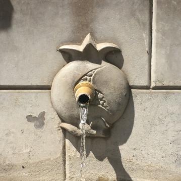 Montefrío town water fountain