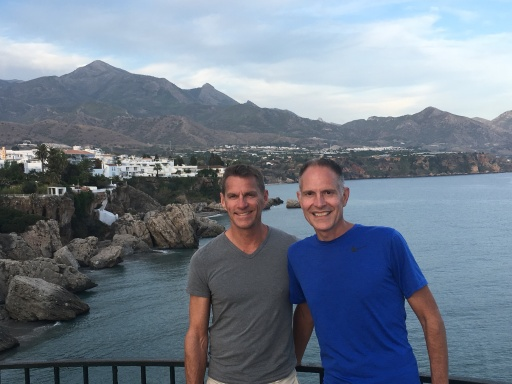 Kurt and Gary on the Balcony of Europe, Nerja