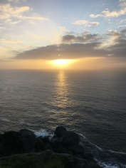 Sunset at Finisterre lighthouse