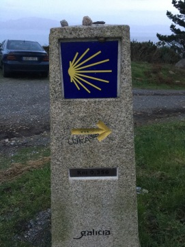 Marker for the Camino de Santiago