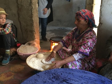 Bread making in the Berber village