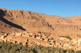 A village in the Sahara Desert